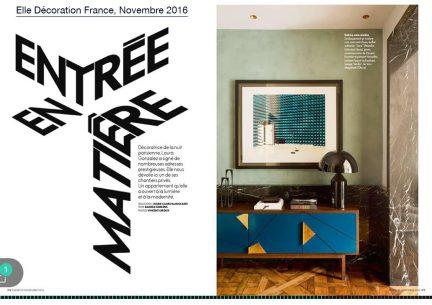 Elle Decoration France - Novembre 2016
