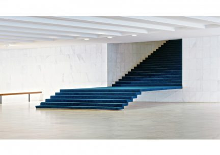 The Itamaraty Palace - Foreign Relations Ministry, stairs, Brasília, 2012.